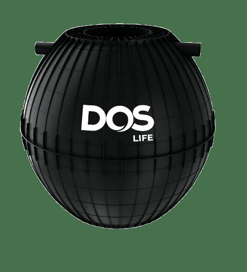 DOS ถังบำบัดน้ำเสีย 1000L HERO สีดำ