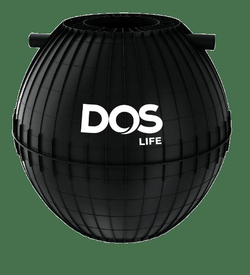 DOS ถังบำบัดน้ำเสีย1200L HERO สีดำ