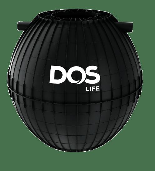 DOS ถังบำบัดน้ำเสีย ขนาด 1600L HERO สีดำ