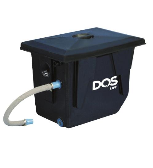 DOS ถังดักไขมันบนดิน DOS GT-01/BK-50L GREASE TRAP สีดำ