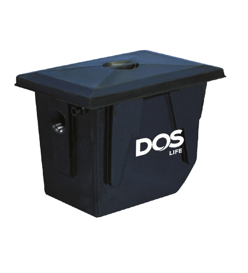 DOS ถังดักไขมันใต้ดิน DOS GT-02/BK-50L GREASE TRAP สีดำ