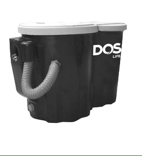 DOS ถังดักไขมันบนดิน DGT-5P สีดำ