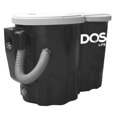 DOS ถังดักไขมันบนดิน CENTURY 10 P CENTURY 10 P สีดำ