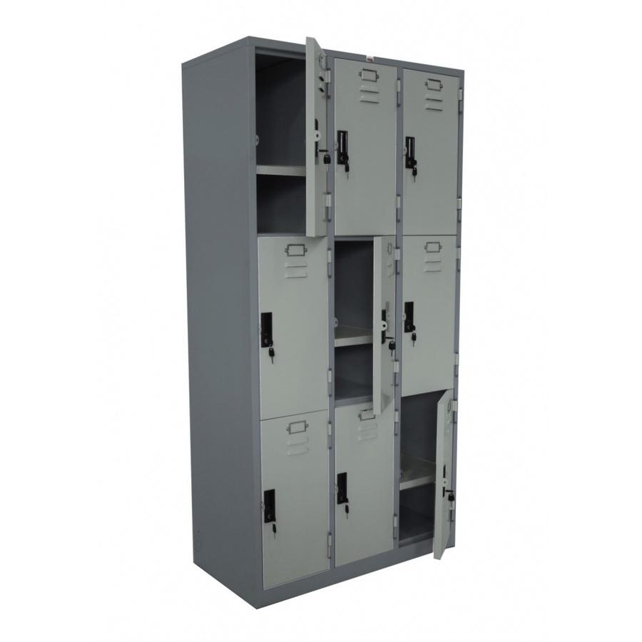 KING STAR ตู้ล็อกเกอร์ 9 ประตู LK-009 LK-009 สีเทา