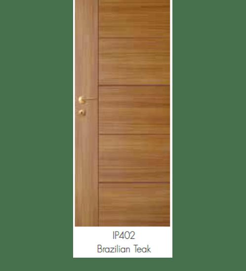LEOWOOD ประตู I Door  LW-46-Brazilian Teak ภายใน ขนาด 3.4x80x200 ซม.