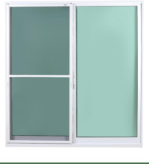 SankyoAlumi ประตูอลูมิเนียมบานเลื่อน SS พร้อมช่องระบายอากาศ (J-Trust) ขนาด200x205ซม.  พร้อมมุ้ง  JD10-SS2020-W5G+VEN  สีขาว