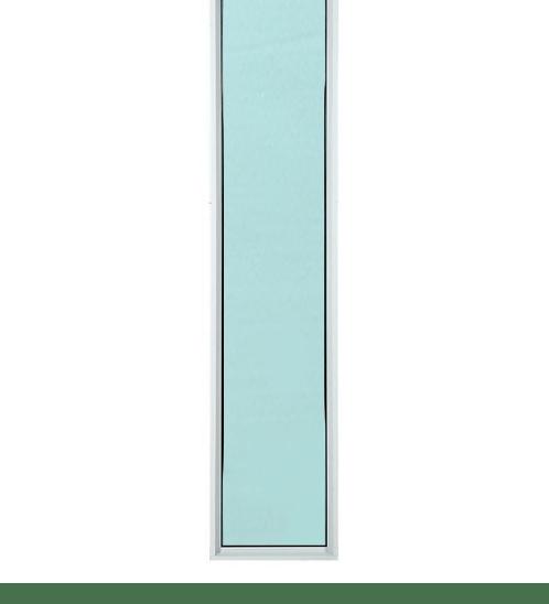TRUSTAND (EZY WINDOW) หน้าต่างช่องแสงติดตายพร้อมมุ้งลวด  ขนาด 40x155ซม.  สีขาว