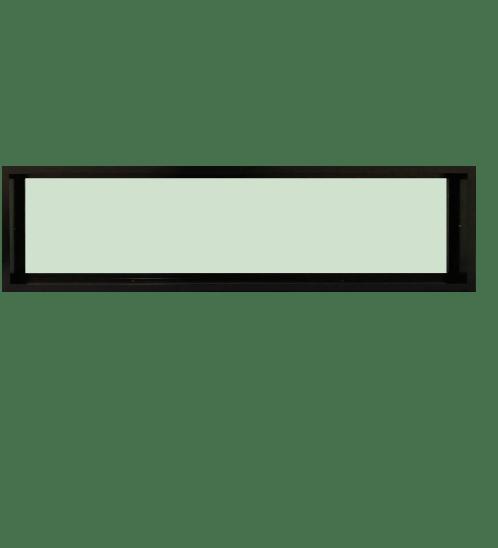 TRUSTAND (EZY WINDOW) หน้าต่างอะลูมิเนียมช่องแสงติดตายกระจกเขียว ขนาด 180x40ซม. Enzo สีดำ