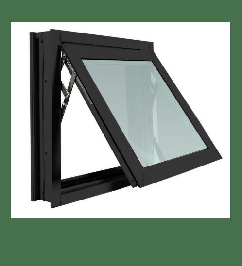 TRUSTAND (EZY WINDOW) หน้าต่างอะลูมิเนียมบานกระทุ้งพร้อมมุ้งลวด ขนาด 80x50ซม.  (ENZO)  null