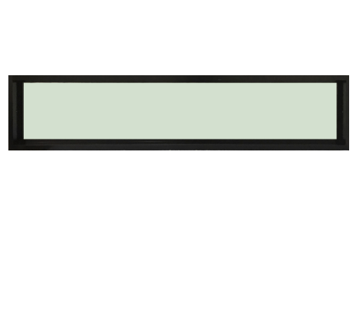 TRUSTAND (EZY WINDOW) หน้าต่างอะลูมิเนียมช่องแสงติดตาย กระจกเขียว ขนาด 180x40ซม. Enzo ดำ