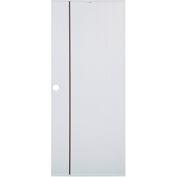 CHAMP ประตู UPVC เซาะร่องโอ๊คแดงขนาด 70cm.x200cm.  (เจาะ)   Idea-1 สีขาว