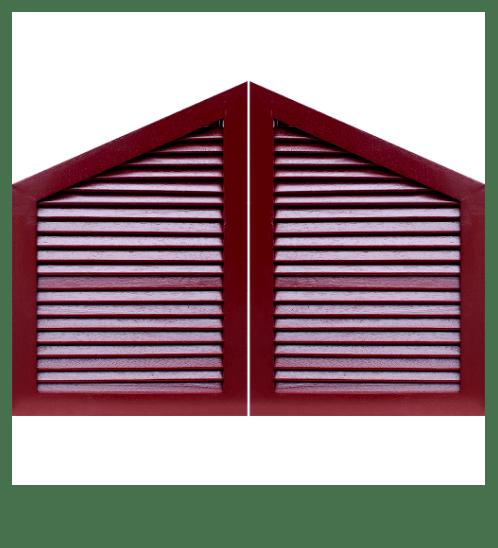 WINDOOR จั่วบ้านไม้เนื้อแข็ง  LJ-04 40x60x3ซม. ทำสี พร้อมมุ้ง