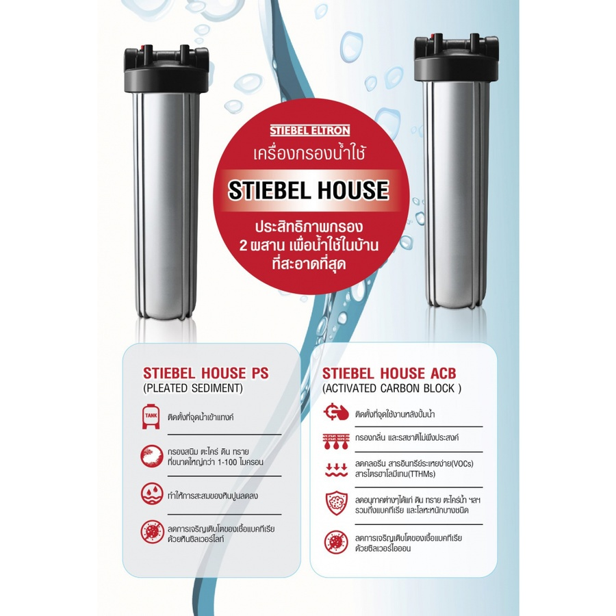STIEBELELTRON เครื่องกรองน้ำใช้ STIEBEL House PS
