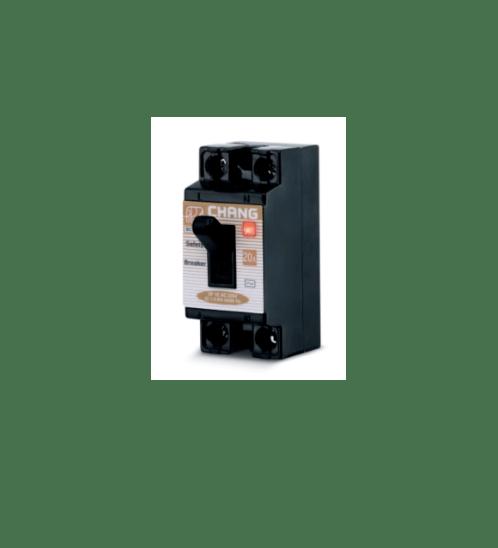 CHANG เบรคเกอร์ 10A BCL-210 มีไฟ-ช้าง - สีดำ