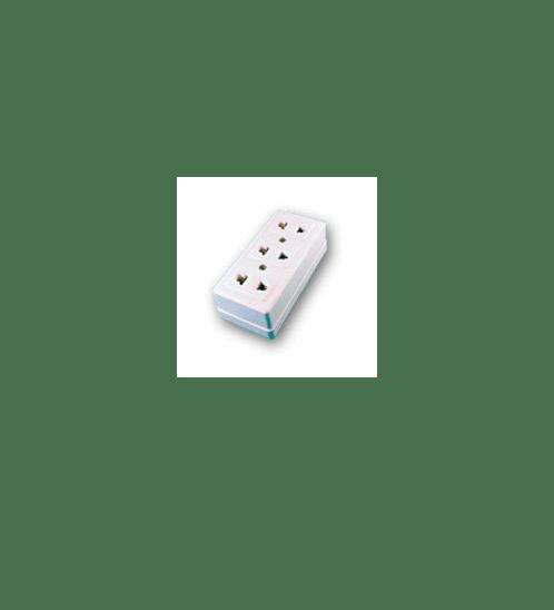 -  ปลี๊ก 3 ที่ N สีขาว N-009 - สีขาว