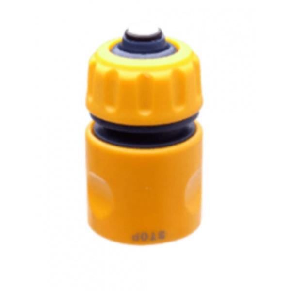 Super Products ข้อต่อสวมเร็วแบบมีวาล์วกันน้ำ ขนาด 1/2 นิ้ว QCV สีเหลือง