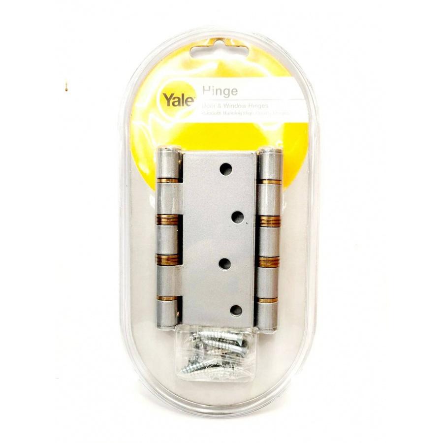 YALE บานพับแกนใหญ่หัวตัดมีหมุดแหวนทองเหลือง ขนาด 4x4 นิ้ว HIB44