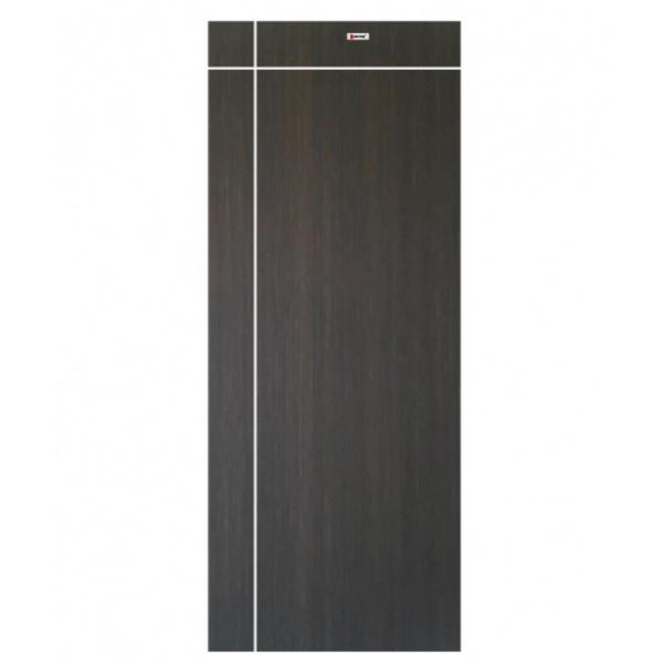 BATHIC ประตู WPCขนาด  80x200ซม. สีน้ำตาลเข้ม (เจาะรู) BWC03
