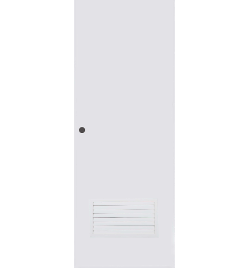 BATHIC ประตูพีวีซี ขนาด 70x203 ซม.  เจาะรูลูกบิด BPC2 สีขาว