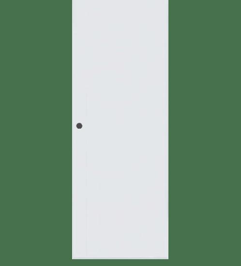 BATHIC ประตูพีวีซี BC1 ขนาด 88.5x199ซม. (เจาะรูลูกบิด) สีขาว