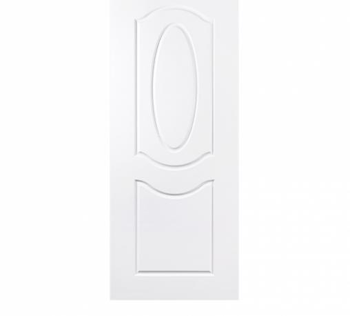 BATHIC  ประตูยูพีวีซี ขนาด  90x200ซม. (ไม่เจาะรูลูกบิด) BTU202 สีขาว