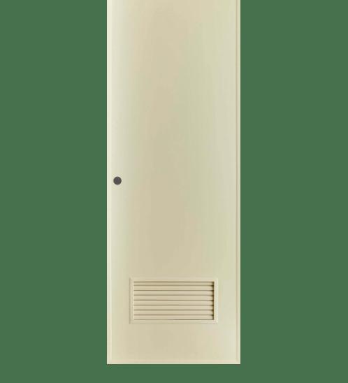BATHIC ประตู PVC ขนาด 70x200 ไม่เจาะ BP2 สีครีม
