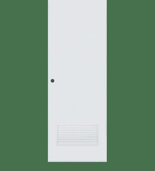 BATHIC ประตู PVC ขนาด 80x200 ซม. เจาะ  BC2 สีขาว