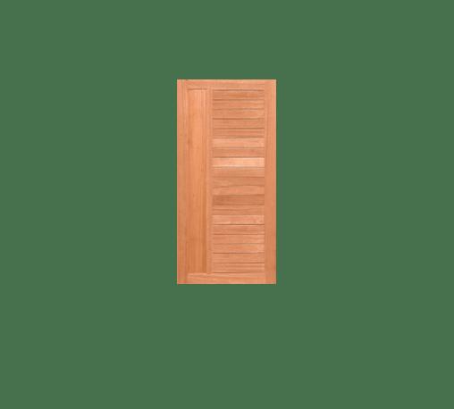 MAZTERDOOR GREATWOOD ประตูไม้เนื้อแข็ง (ไม้รวม) NM64-08 80x200 ซม.