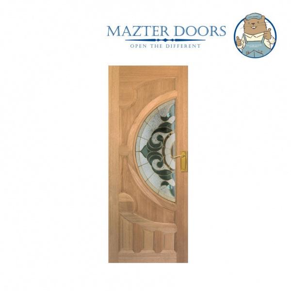 MAZTERDOOR ประตูไม้เรดเมอร์รันตี ขนาด 80x200 cm. Vanda-01
