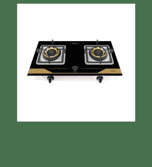 AXIA เตาแก๊สตั้งโต๊ะหน้ากระจก  2 หัวเตา  DIAMOND  สีดำ