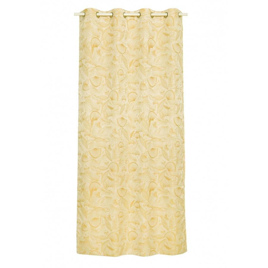 Davinci ผ้าม่านประตูพิมพ์ลาย  ขนาด 140x240ซม.  A72054FF#1D สีเหลือง