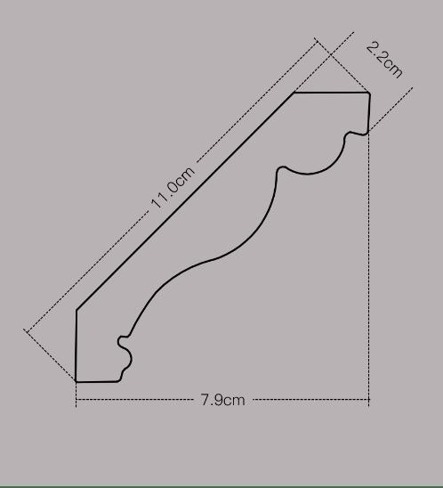 GREAT WOOD ไม้บัวบน  108x21x2700 mm(กxหนาxย)  JC53-593