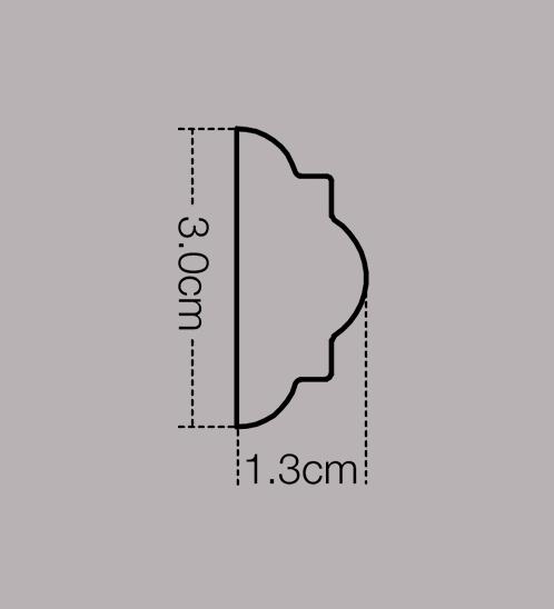 GREAT WOOD ไม้คิ้ว รุ่น  1641-A-446   30x13x2700 mm (กxหนาxย)   1641-A-446