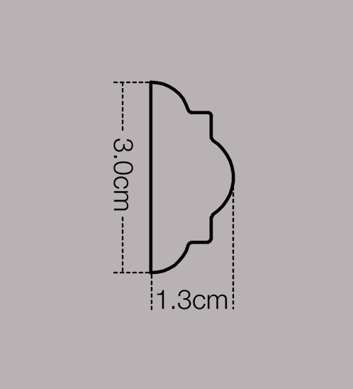 GREAT WOOD ไม้คิ้ว รุ่น  1641-A-372   30x13x2700 mm (กxหนาxย)   1641-A-372