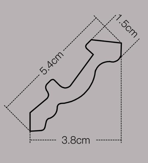GREAT WOOD บัวเชิงผนัง  JC194-W1  ขนาด 51x14x2900mm  สีขาว