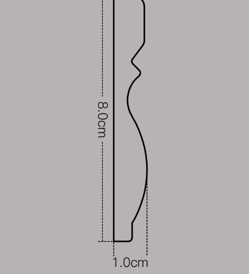 GREAT WOOD บัวพื้น   80x11.5x2900mm. สีโอ๊ค JC195-2