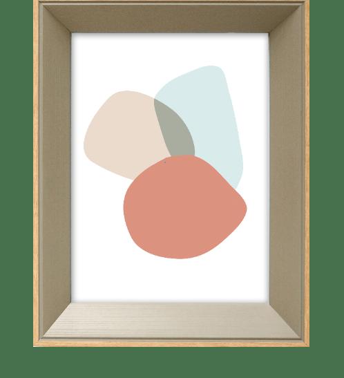 COZY กรอบรูป ขนาด 6x8นิ้ว โมเดิร์น สีGrey with wooden edge  ไม้ธรรมชาติ