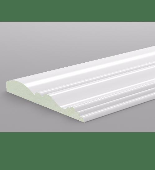 GREAT WOOD ไม้บัว PVC รุ่น FCM-0833E 83x10x2700mm. WH05 GREATWOOD  คละสี