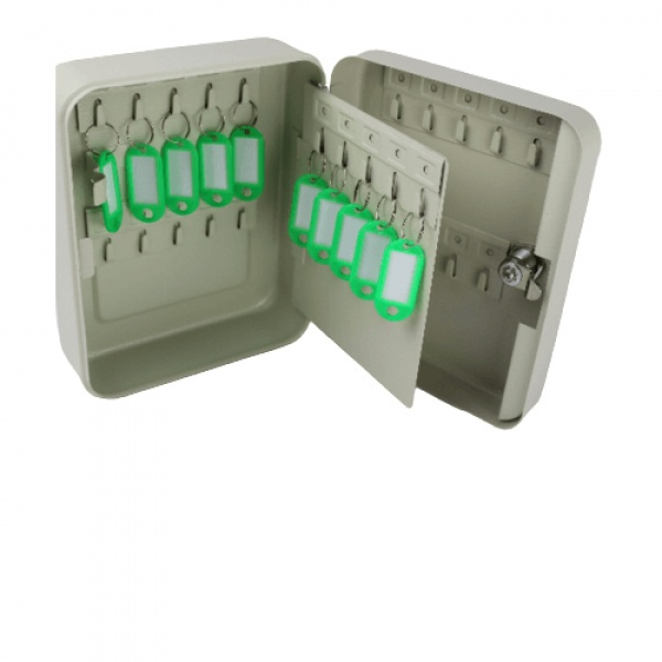 Protx ตู้กุญแจ สำหรับกุญแจ 30 ดอก พร้อมป้าย 10 ชิ้น HF200-30K สีเบจ