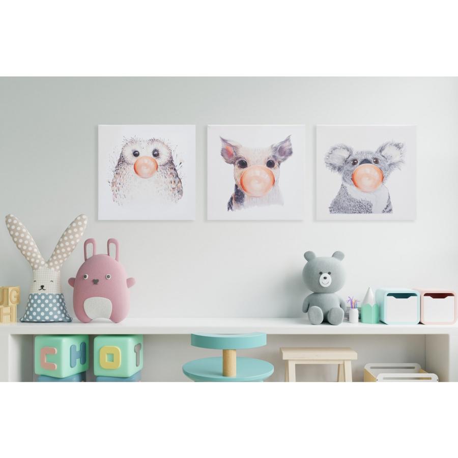 NICE รูปภาพพิมพ์ผ้าใบ Animals ขนาด 30x20ซม. (ก.xส.)   C2020-10