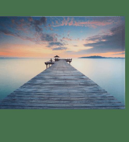 NICE รูปภาพพิมพ์ผ้าใบ View-Sea ขนาด70x50 ซม. (ก.xส.) (สะพานยื่นในทะเล) C7050-11