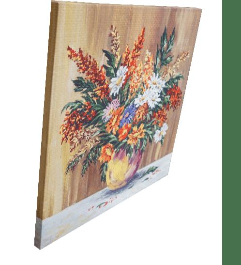 NICE รูปภาพพิมพ์ผ้าใบ Flower Pot ขนาด 50x50 ซม. (ก.xส.) (ดอกไม้ในแจกัน) C7060-22