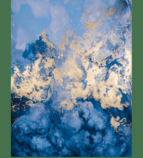 NICE รูปภาพพิมพ์ผ้าใบ Abstract ขนาด  70x70 ซม. (ก.xส.) C5070-6