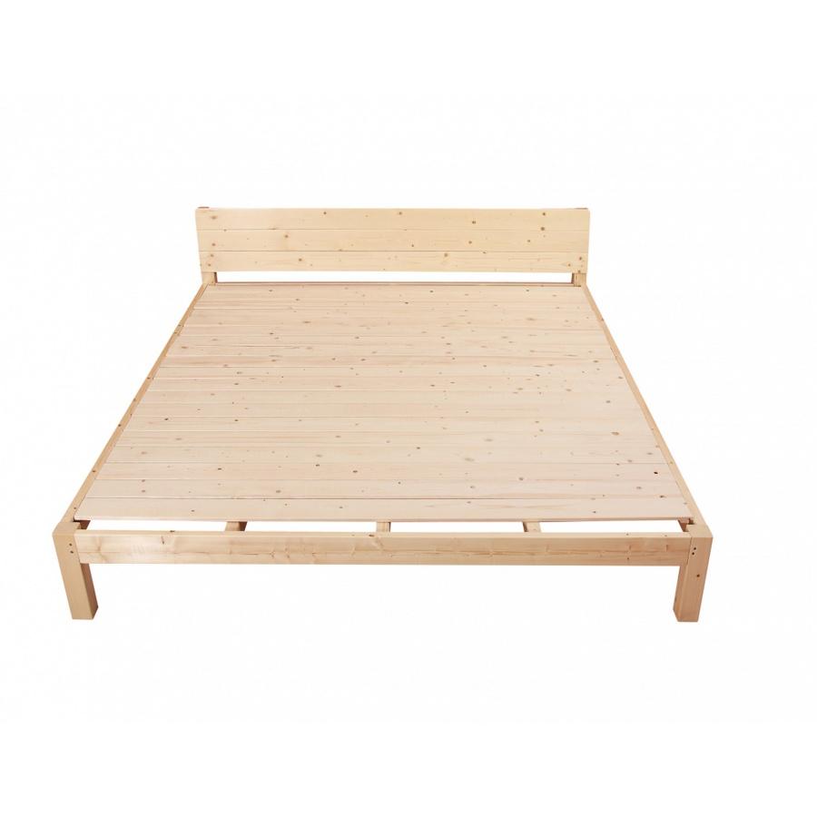 Truffle ชุดเตียงไม้สน 6ฟุต  แถมที่นอนและหมอนหนุน 2ใบ