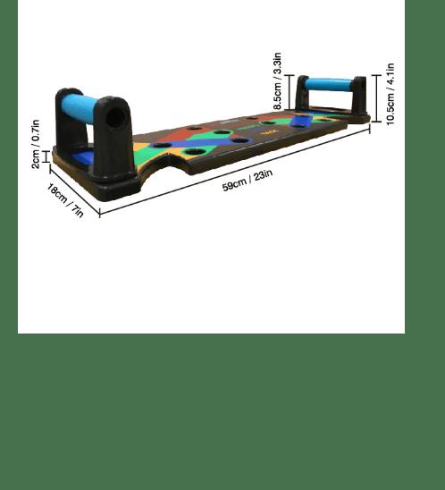 FORTEM  กระดานบอร์ดวิดพื้น 9 in 1  รองรับน้ำหนัก 300กก. PUB-03 สีดำ