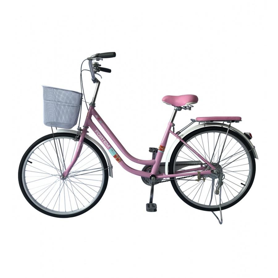 FORTEM จักรยานแม่บ้าน ขนาด 24นิ้ว  4CB-2401-P ชมพู