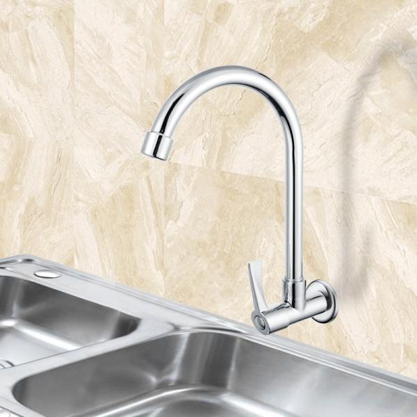 VERNO ก๊อกอ่างล้างจานแบบออกผนังทองเหลือง  74301