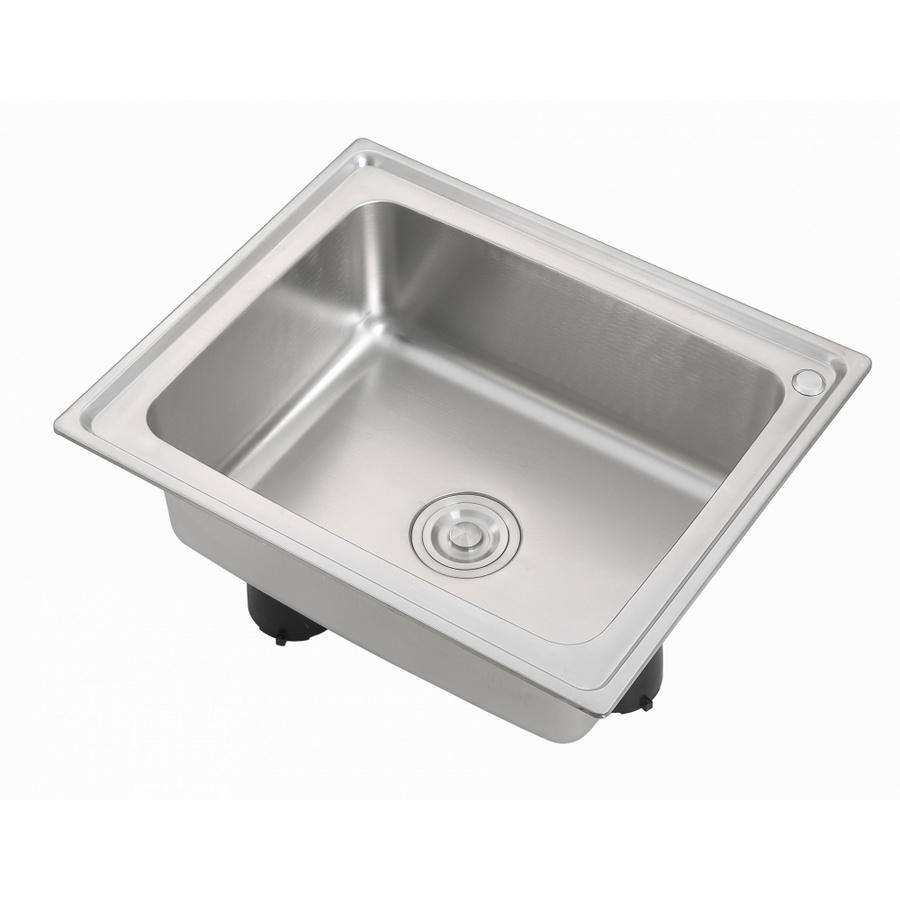 CROWN อ่างล้างจาน 1 หลุมไม่มีที่พัก WS6050