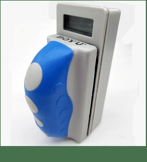 BOYU แปรงแม่เหล็กพร้อมเทอร์โมมิเตอร์ รุ่น WD-805 WD-805 สีเทาอ่อน