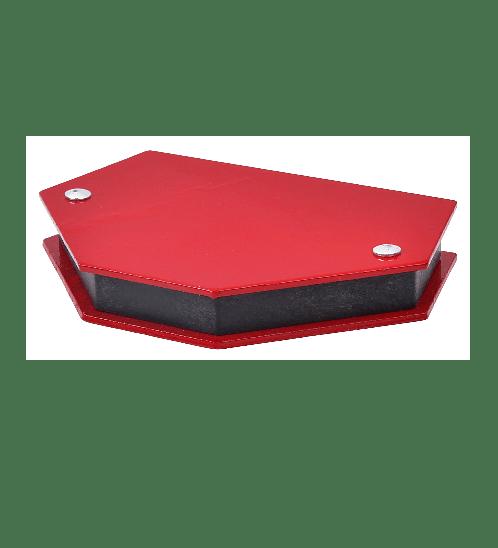 HUMMER แม่เหล็กฉาก 6เหลี่ยม รุ่น QJ6013 (9.5x4.8ซ.ม) สีแดง HAMMER QJ6013 สีแดง